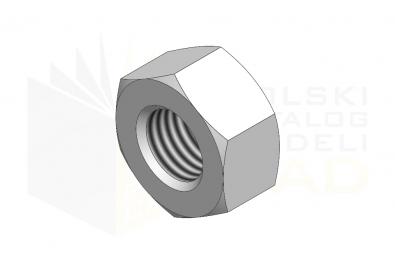 ISO 4032_Nakrętka sześciokątna - IsometricView