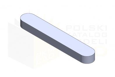 Wpust pryzmatyczny - A - DIN 6885 - IsometricView