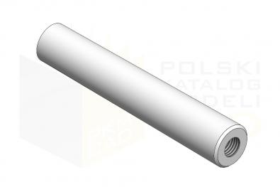 ISO 8736_Kołek stożkowy z gwinem wewnętrznym niehartowany - IsometricView