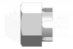 ISO 7035_Nakrętka sześciokątna koronowa - LeftView