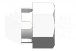 ISO 7035_Nakrętka sześciokątna koronowa - RightView