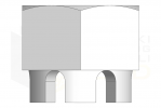 ISO 7035_Nakrętka sześciokątna koronowa - TopView