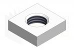 DIN 562_Nakrętka kwadratowa niska - IsometricView