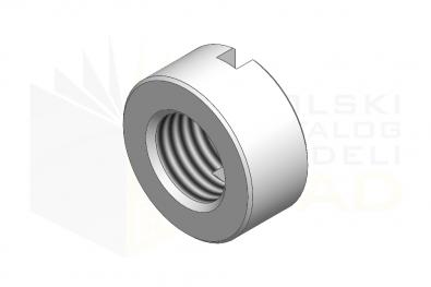 DIN 546_Nakrętka okrągła z rowkiem - IsometricView