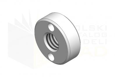 DIN 547_Nakrętka okrągła z otworami - IsometricView
