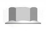 ISO 4161_Nakrętka sześciokątna - LeftView