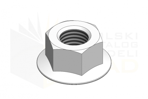 ISO 4161_Nakrętka sześciokątna - IsometricView