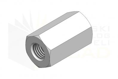 DIN 6334_Nakrętka złączona - IsometricView
