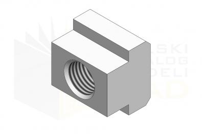 DIN 508_Nakrętka do rowków teowych - IsometricView