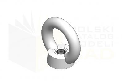 DIN 582_Nakretka z uchem - IsometricView