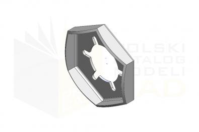 DIN 7967_Nakrętka zabezpieczająca blaszkowa - FSt - IsometricView