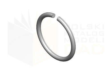 DIN 7993 A_Pierścień osadczy - IsometricView