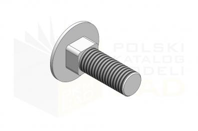 DIN 603_Śruba z łbem grzybkowym  - 4.6 - IsometricView