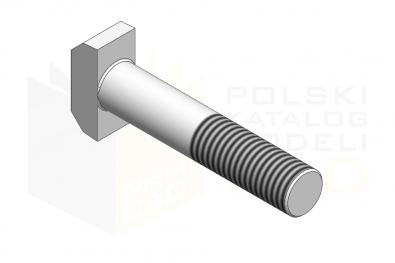 DIN 261_Śruba z łbem młoteczkowym - 8.8 - IsometricView