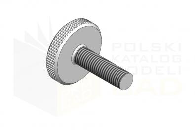 DIN 653_Śruba radełkowana - 5.8 - IsometricView