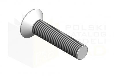 DIN 7991_Śruba z łbem stożkowym z gniazdem sześciokątnym - IsometricView