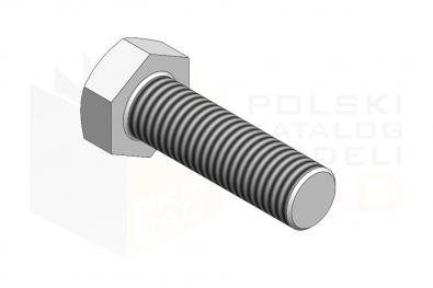ISO 8676_Śruba z łbem sześciokątnym - 8.8 - IsometricView