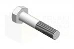 ISO 8765_Śruba z łbem sześciokątnym - 10.9 - IsometricView