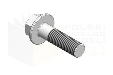 DIN 6921_Śruba z łbem sześciokątnym - 8.8 - IsometricView