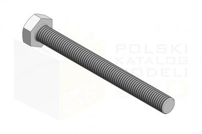 ISO 4017_Śruba z łbem sześciokątnym - 8.8 - IsometricView