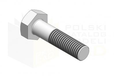 ISO 4014_Śruba z łbem sześciokątnym - 8.8 - IsometricView