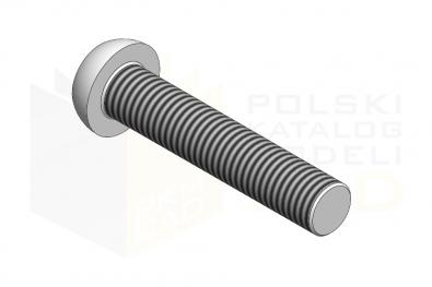 ISO 7380_Śruba z łbem wypukłym z gniazdem sześciokątnym - 10.9 - IsometricView