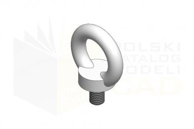 DIN 580_Śruba z uchem - IsometricView