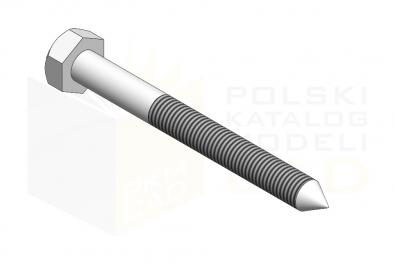 DIN 571_Wkręt z łebm sześciokątnym - IsometricView