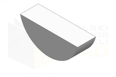 ISO 3912_Wpust czółenkowy - IsometricView