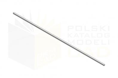 DIN 6880_Wpust pryzmatyczny metrowy - IsometricView