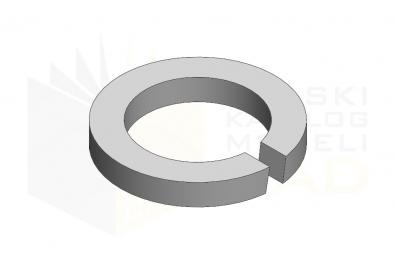 DIN 7980_Podkładka sprężysta - FSt - IsometricView