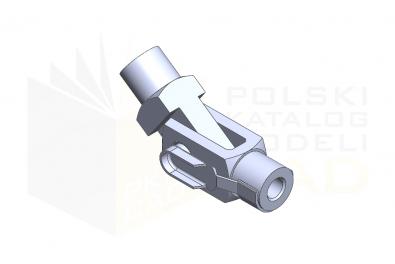 Przegub widełkowy - IsometricView