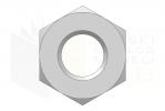 ISO 7040_Nakrętka samohamowna wysoka z wkładką poliamidową - BackView