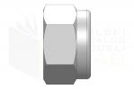 ISO 7040_Nakrętka samohamowna wysoka z wkładką poliamidową - LeftView