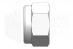 ISO 7040_Nakrętka samohamowna wysoka z wkładką poliamidową - RightView