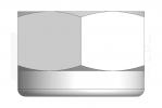 ISO 7040_Nakrętka samohamowna wysoka z wkładką poliamidową - TopView