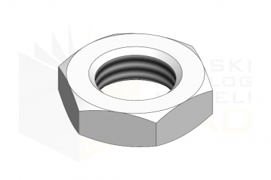 ISO 4035_Nakrętka sześciokątna niska - IsometricView