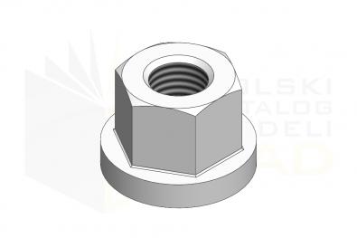 DIN 6331_Nakrętka sześciokątna - IsometricView