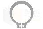 DIN 471_Pierścień osadczy zewnętrzny - FSt - BackView