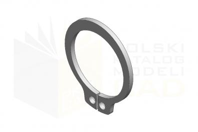 DIN 471_Pierścień osadczy zewnętrzny - FSt - IsometricView