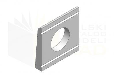 DIN 434_Podkładka do ceowników - IsometricView