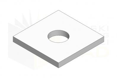 DIN 436_Podkładka kwadratowa - IsometricView