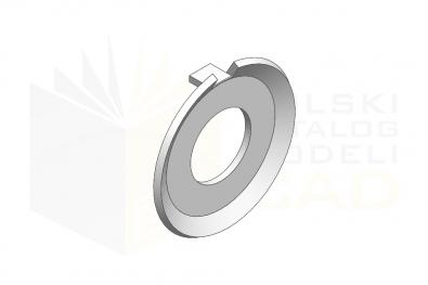 DIN 432_Podkładka odginana - IsometricView