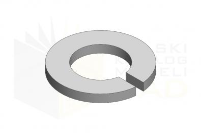 DIN 128 A_Podkładka sprężysta łukowa - FSt - IsometricView