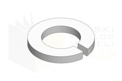 DIN 127_Podkładka okrągła sprężysta  - IsometricView
