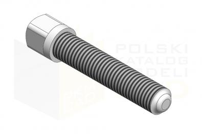 DIN 480_Śruba z łbem kwadratowym - 10.9 - IsometricView