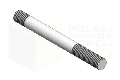 DIN 939_Śruba dwustronna - 8.8 - IsometricView