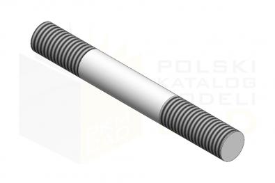 DIN 835_Śruba dwustronna - 8.8 - IsometricView