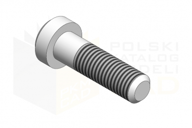 DIN 6912_Śruba imbusowa - 8.8 - IsometricView