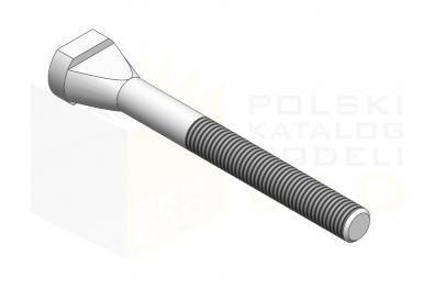 ISO 299_Śruba do rowków teowych - 8.8 - IsometricView